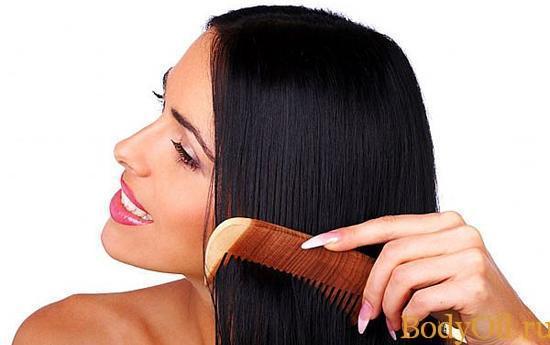 Волосы после применения масел