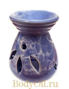 Синяя керамическая лампа